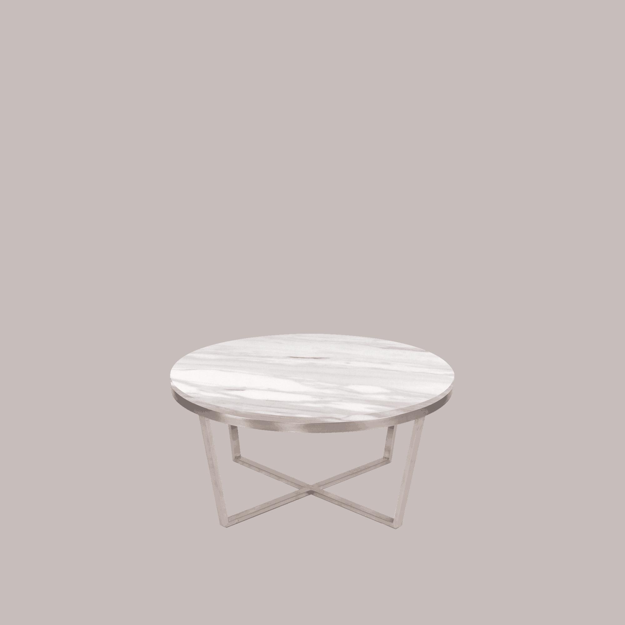 Lorenz Round Marble Coffee Table: Round Marble Coffee Table Volakas