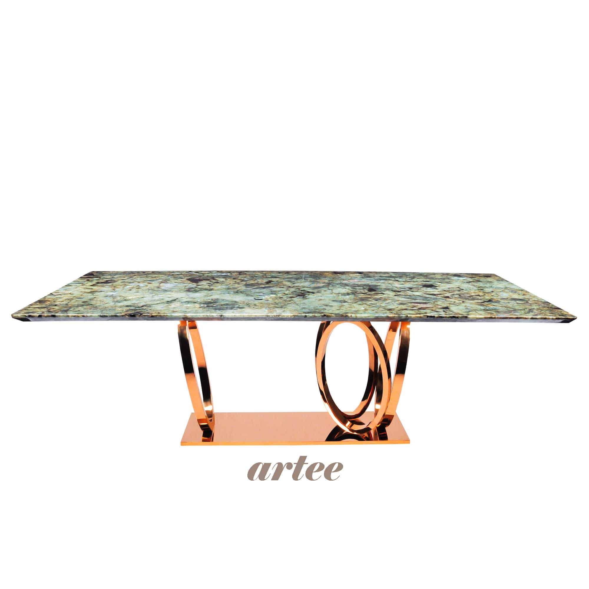 DeCasa Rectangular Granite Dining Table Blue Jade
