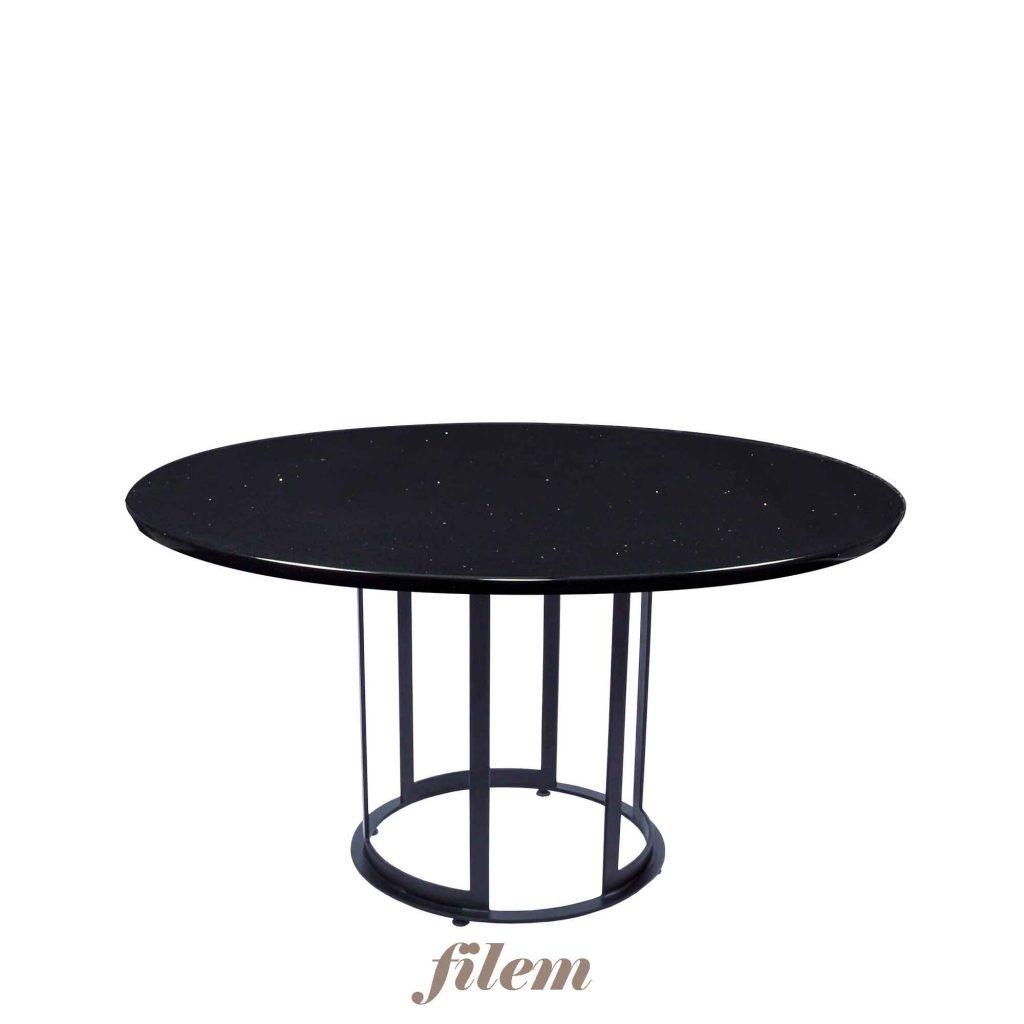 Picture of: Decasa Round Quartz Dining Table Nero